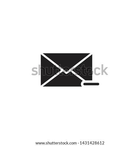 Filled mail icon, Filled mail vector, Filled mail illustration, Filled mail eps10
