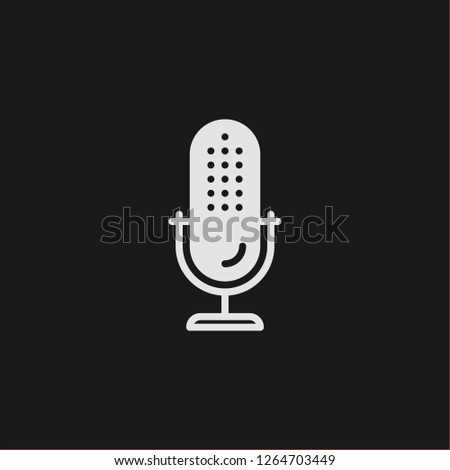 Filled microphone super icon. Microphone vector illustration for graphic design. Microphone symbol.