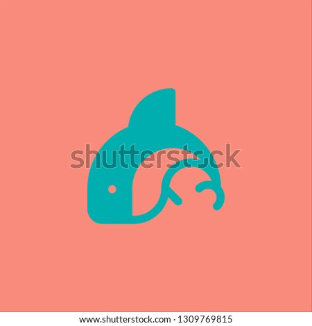 Filled orca icon. Orca vector illustration for graphic design. Orca symbol.