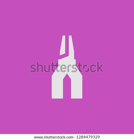 Filled pliers super icon. Pliers vector illustration for graphic design. Pliers symbol.