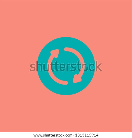 Filled rotation icon. Rotation vector illustration for graphic design. Rotation symbol.