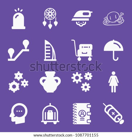 filled set of 16 other icons