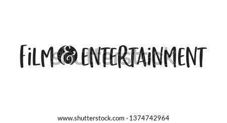 Film and Entertainment Vector Text Typography Illustration Background