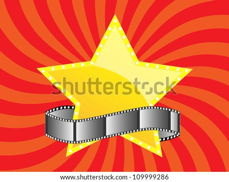 film and star design