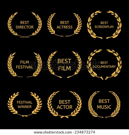 film awards  gold award wreaths