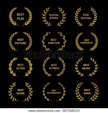 film awards gold award wreaths