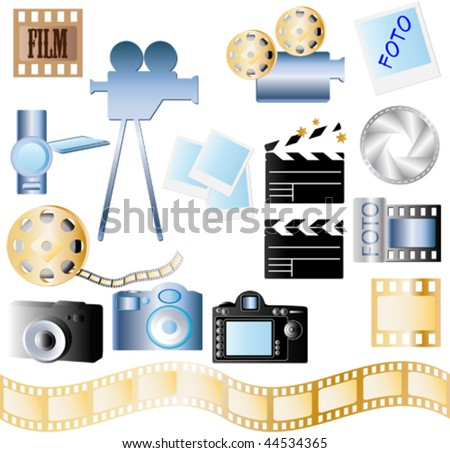 film, camera and objects for film