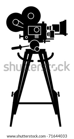 Film cinema camera, vector illustration