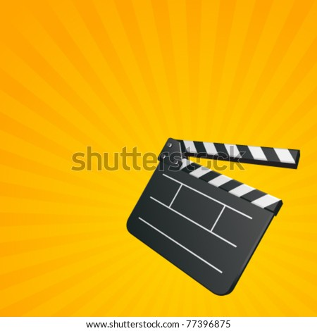 Film clap board cinema vector background. Eps 10.