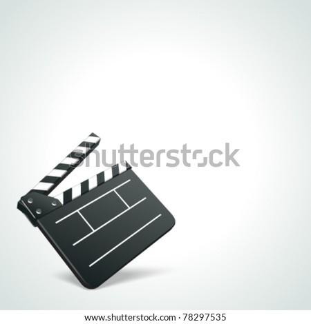 Film clap board cinema vector background. Eps 10.
