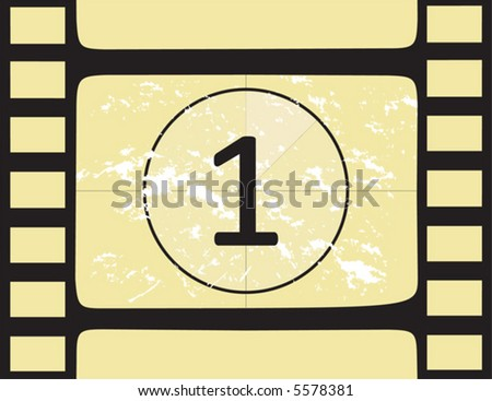 Film countdown at number 1. Vector illustration