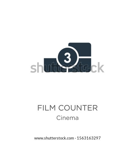 Film counter icon vector. Trendy flat film counter icon from cinema collection isolated on white background. Vector illustration can be used for web and mobile graphic design, logo, eps10