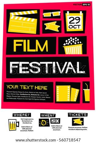 film festival poster  flat