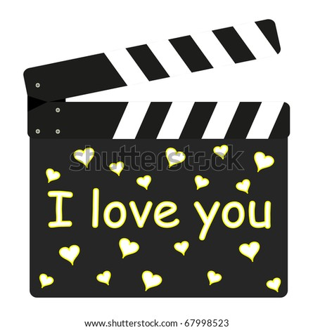 Film flap - I love you
