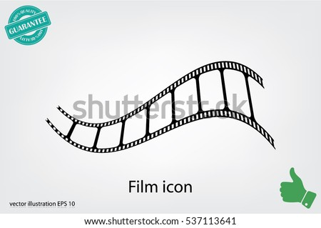 Film icon vector illustration eps10.