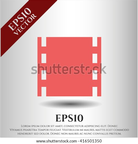 film icon vector symbol flat eps jpg app web concept website