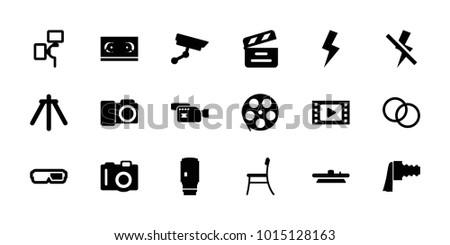 film icons set of 18 editable