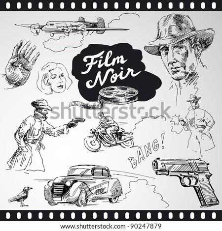 film noir   hand drawn