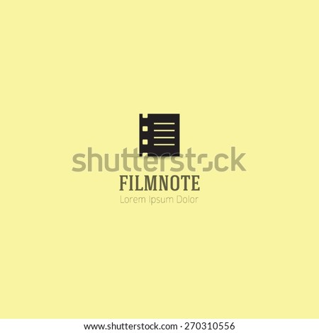 Film Note innovative and creative inspiration company logo elements, design, template, and vector.