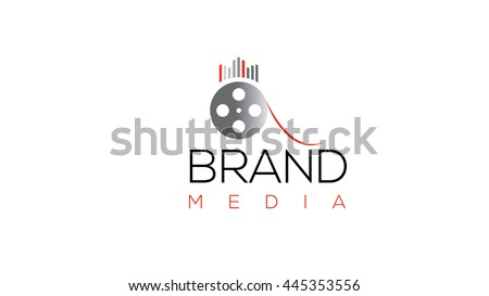 Film production vector logo template. Cinema logo.