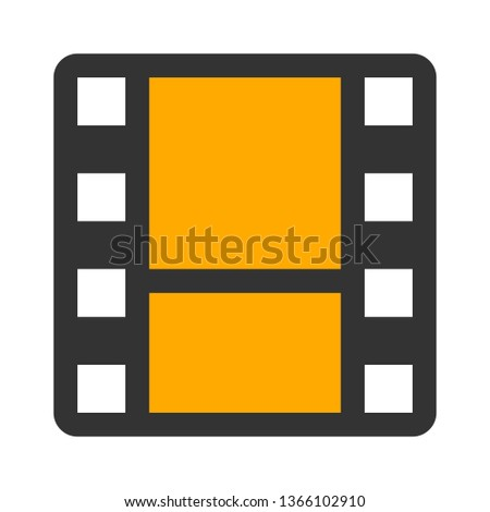 Film reel - filmstrip Logo Template vector illustration design
