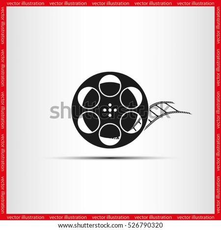 film reel icon vector eps 10