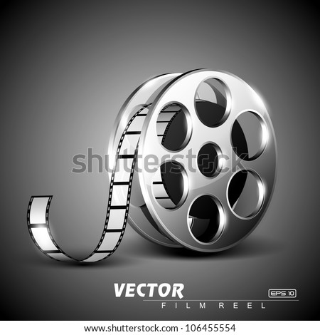 film reel on grey stage