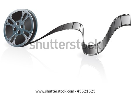 Film Reel Original Vector Illustration Film Reel Concept