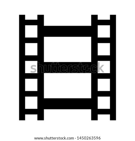 film reel strip icon. Logo element illustration. film reel strip design. colored collection. film reel strip concept. Can be used in web and mobile