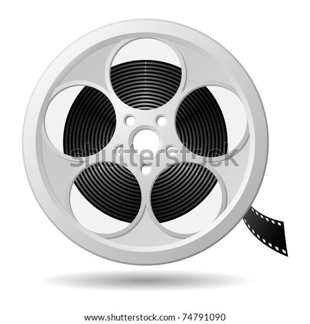 film reel  vector eps version 8