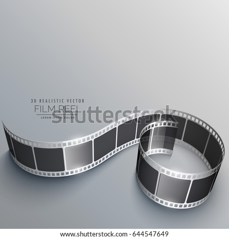 film reel vector with shadows