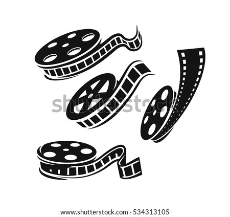 film roll logo vector black