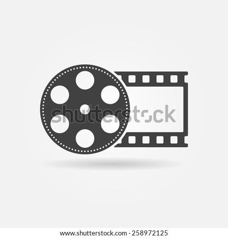 film roll logo   vector black