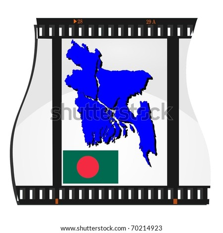 film shots with a national map of Bangladesh