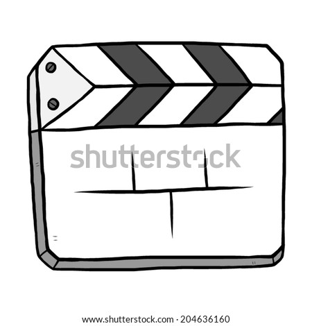 film slate or clapboard