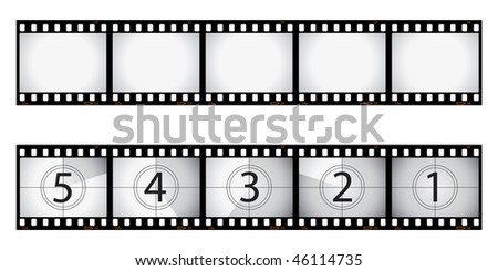 Film strip and film countdown