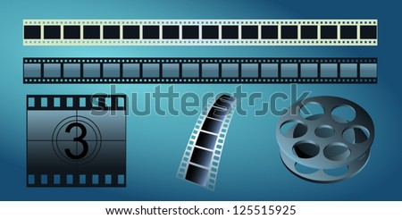 Film strip and film reel