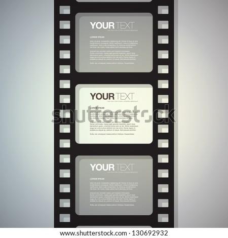 film strip design text box