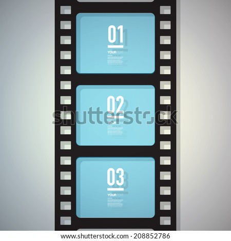 film strip design with your