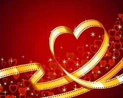 Film strip heart