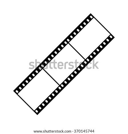 Film strip icon . Vector illustration