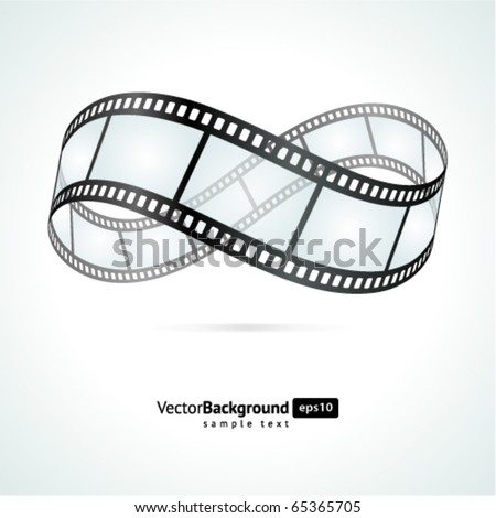 Film strip infinity vector background