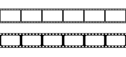 Film strip isolated vector icon.