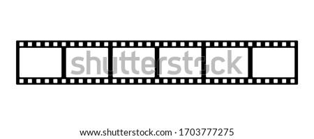Film strip line icon simple design