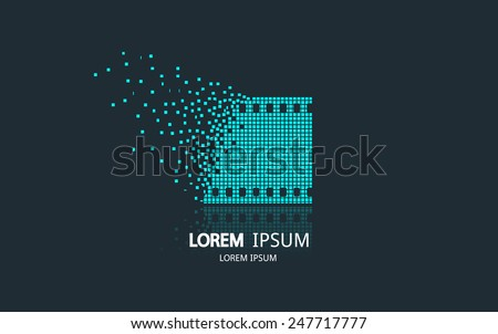 film strip logo vector