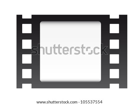 film strip over white background. vector illustration
