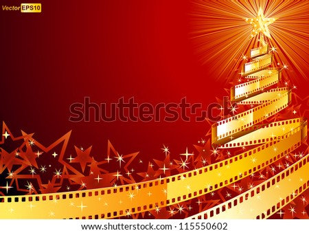 film strip pine tree