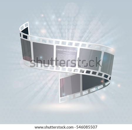 film strip roll vector cinema