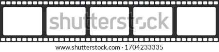 Film Strip Seamless white background. Alpha strip film design Pattern.  Photo stock ©