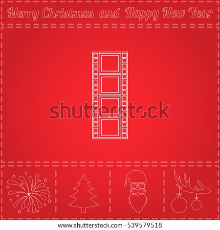 film strip simple flat vector